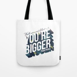 walk around like you're bigger than prince Tote Bag