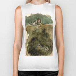 The Abyss Stares Back Biker Tank