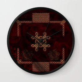 Celtic knote, vintage design Wall Clock