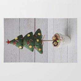 Handmade craft Christmas Tree Rug