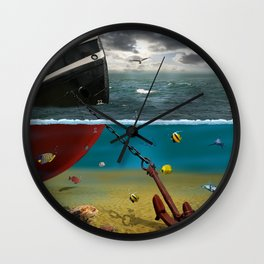 View into the underwater world Wall Clock