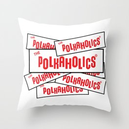 The Polkaholics - Bumper Stickers Throw Pillow