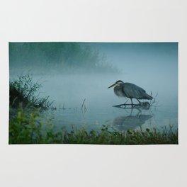 Blue Heron Misty Morning Rug