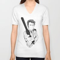 clint eastwood V-neck T-shirts featuring Magnum Force (Clint Eastwood by  Steve Wade ( Swade)