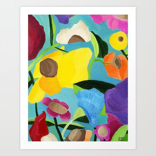 The Dreamy Garden Art Print