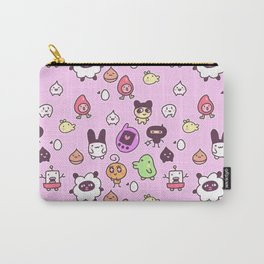 Tamagotchi Pattern Carry-All Pouch