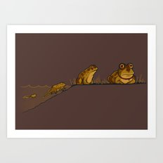 Evolution of Hypnotoad Art Print
