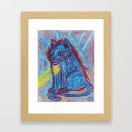 Solar Cat Framed Art Print