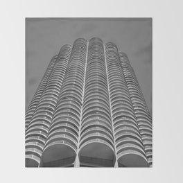 Marina City Tower Photo, Chicago, Architecture Throw Blanket