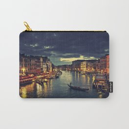 Venise by night.  love, gondola venice, city, tourism, building, Rialto Bridge, venetian, modern, ve Carry-All Pouch