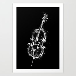 Black Cello Art Print