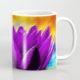 Purple Water Lily Landscape by Jéanpaul Ferro Coffee Mug