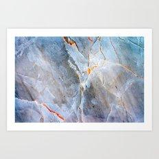 Grey Marble Texture Art Print