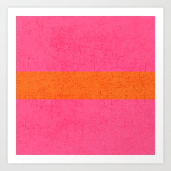 hot pink and orange classic  Kunstdrucke