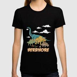 Dino Vegan Vegetarian Herbivore Gift T-shirt