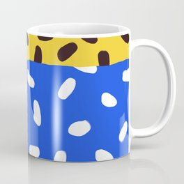 Blue, Pink and Leopard Abstract Print Coffee Mug
