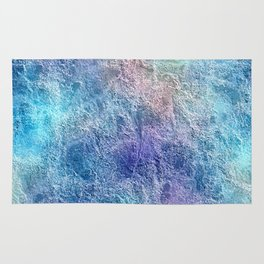 Colorful Cool Tones Blue Purple Abstract Rug