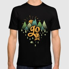 GO Mens Fitted Tee 2X-LARGE Black
