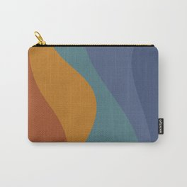 Abstract Color Waves - Vibrant Rainbow Carry-All Pouch