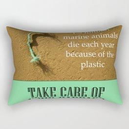 Save the planet Rectangular Pillow