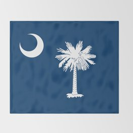 State flag of South Carolina - Authentic version Throw Blanket