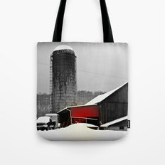 Silo and Snow Tote Bag
