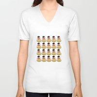 goku V-neck T-shirts featuring Son Goku by husavendaczek
