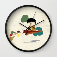 brave Wall Clocks featuring Brave by yael frankel