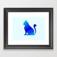 ICE CAT Framed Art Print