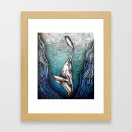 Into the Darkest Depths Framed Art Print
