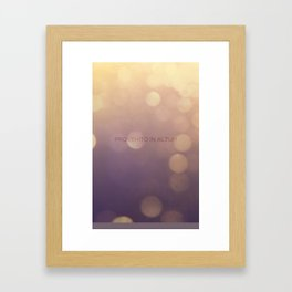 Provehito in Altum Framed Art Print