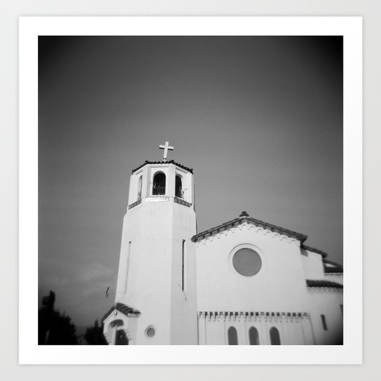 Church on Holga Art Print