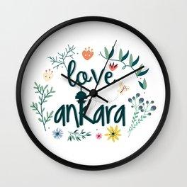 I love Ankara Wall Clock