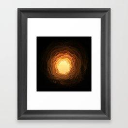 Cave, Papercut lightbox Framed Art Print