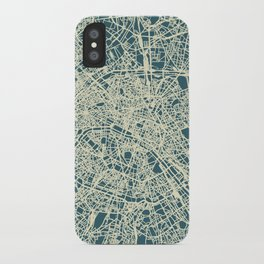 Paris Map Blue iPhone Case