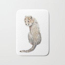 Watercolor Cheetah Painting Bath Mat