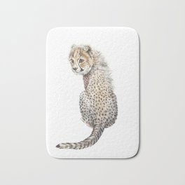 Watercolor Cheetah Painting Bath Mat