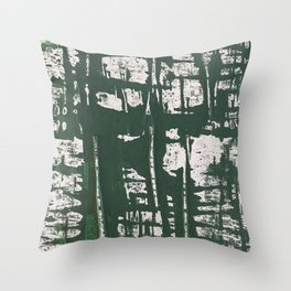 NYC Walls (zelen) Throw Pillow