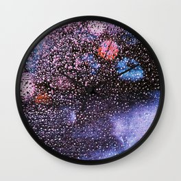 Purple Rein Wall Clock