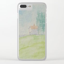 Hilltop house Clear iPhone Case
