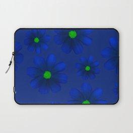 Blue Flowers Beautiful Pattern Laptop Sleeve