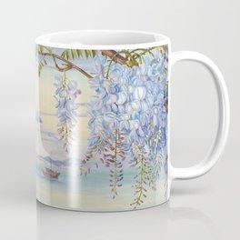 Mount Fuji and wisteria flowers Coffee Mug