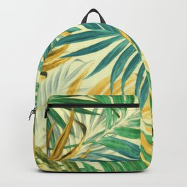 Palm Leaves in Yellow Backpack