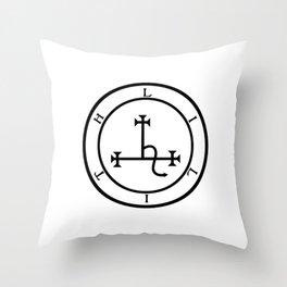 Sigil of Lilith- Female demon Lilith symbol Throw Pillow
