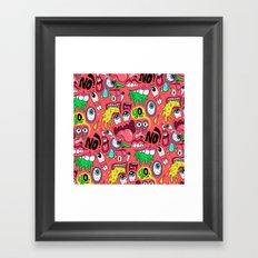 Gross Pattern Framed Art Print