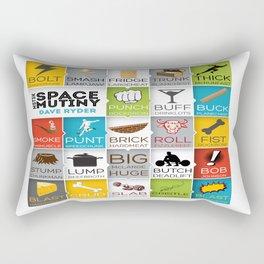 MST3K Space Mutiny - Dave Ryder Names - Art Print Wall Decor Typography Inspirational Poster Motivat Rectangular Pillow