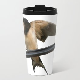 Swallow On A Wire Vector Travel Mug