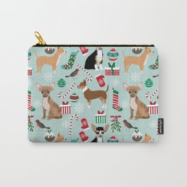 Chihuahua christmas best gifts for chihuahua owners dog pet portraits pet friendly Carry-All Pouch