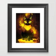 Bastet- the Goddess of Cats Framed Art Print