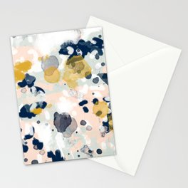 Esther - abstract minimal gold navy painting home decor minimalist hipster art Stationery Cards